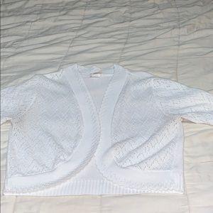 White sweater shrug